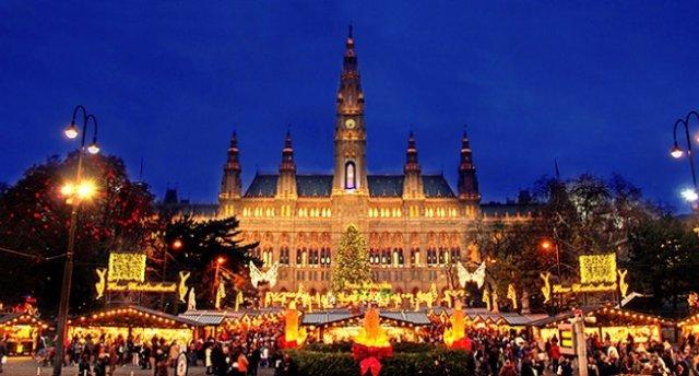 Ziemassvētki Vīnē, Šēnbrunnas pils, Melkas abatija,Bādene