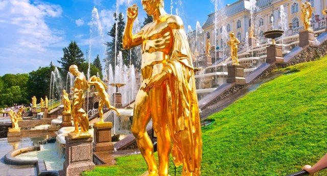 GARANTĒTS! Sanktpēterburgas pilsētas svētki! Ermitāža, Katrīnas pils un parks, Pēterhofas Lejas parks un Monplezīras pils