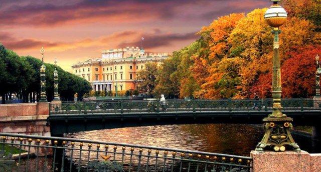 Sanktpēterburga rudens krāsās! Skolēnu rudens brīvlaikā