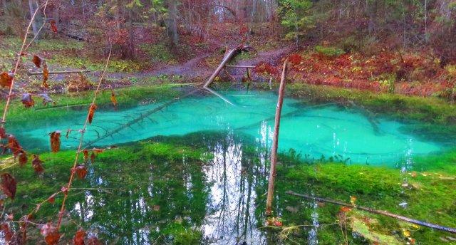 Ziemeļigaunijas avoti un ūdenskritumi pavasarī. Kesmu pussala