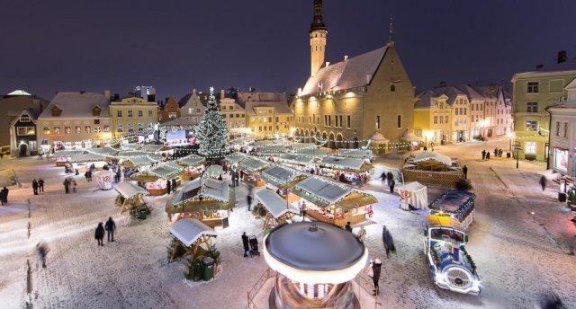 Ziemassvētku noskaņas Tallinā! Tirdziņi.